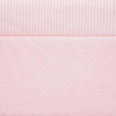 Rácsvédő – rózsaszín pöttyös-csíkos